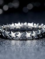 Кольцо В форме звезды Мода По заказу покупателя Серебряный Бижутерия Повседневные 1шт