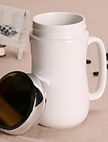Классика Стаканы, 400 ml Простой геометрический узор Керамика Чайный Телесный Каждодневные чашки / стаканы