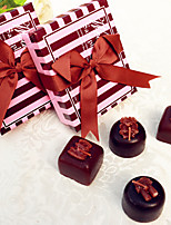 Chocolate Tealight Candle Favor Set (4pcs/box  10box/Set)