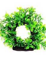 Aquarium Decoration Ornament Non-toxic & Tasteless Plastic Green