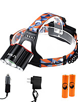 U'King ZQ-X806C-Red-EU  Cree XM-L T6 LED 6000LM 4 Mode Headlamps Kits Camping/Hiking/Caving Everyday Use Cycling/Bike Hunting Traveling Multifunction