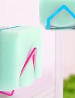2Pcs New Qualified Dish Cloths Rack Suction Sponge Holder Clip Rag Storage Rack Random  Color