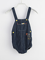 Baby Casual/Daily Solid One-Pieces,Cotton Summer Sleeveless