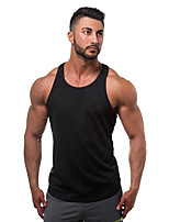 Men's Casual/Daily Beach Sports Simple Active All Seasons Tank Top,Solid U Neck Sleeveless Blue Red White Black Gray Green Yellow Cotton