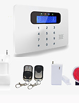Wireless & Wired Touch Keyboard Lcd Display Home Security GSM Alarm System