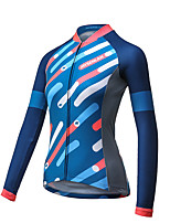 Mysenlan Cycling Jersey Women's Long Sleeve Bike Breathable Quick Dry Jersey Polyester Fashion Spring Summer Fall/Autumn