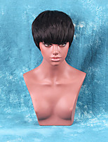 New Fashion Short Straight Capless Wigs High Quality  Human Hair Wig