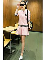 Sign tennis skirt suit female Korean long-sleeved two-piece skirt 2017 new fashion sportswear
