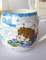 Cartoon Drinkware, 300 ml Decoration Heat-Insulated Ceramic Tea Juice Daily Drinkware