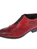 Для мужчин-Свадьба Для офиса Для вечеринки / ужина-Дерматин-На плоской подошве-Удобная обувь Баллок обувь-Туфли на шнуровке