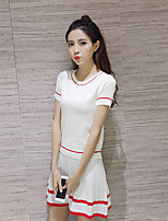 Sign 2017 spring and summer clothes suit female new fashion knit T-shirt female skirt piece