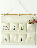 Storage Bags Textile withFeature is Open  For Underwear Cloth Plain Cotton And Linen Hanging Bag