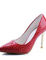 Черный Красный Синий Розовый-Для женщин-Свадьба Для праздника Для вечеринки / ужина-Дерматин-На шпилькеОбувь на каблуках