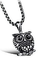 Men's Pendant Necklaces Titanium Steel Animal Shape Basic Fashion Classic Silver Jewelry Daily Casual 1pc