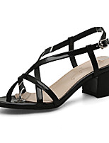 Women's Sandals Spring Summer Fall Gladiator Club Shoes Leatherette Dress Casual Party & Evening Chunky Heel Block Heel BuckleGold Black