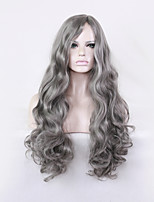 Grandma Gray Points Curly Hair in Europe and the United States Harajuku Wig Large Scalp Anime Wigs 30inch
