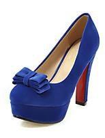 High Heels-Büro Kleid Party & Festivität-Vlies-Blockabsatz-Club-Schuhe-Schwarz Blau Rot Beige