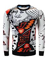 Sweatshirt Homme Grandes Tailles Décontracté / Quotidien simple Couleur Pleine Imprimé Col Arrondi Micro-élastique Coton Manches Longues