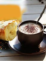 1pcs Minimalism Drinkware 200 ml Boyfriend Gift Girlfriend Gift Ceramic Coffee Coffee Mug With Spoon And Dish Random Color