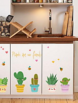 Cartoon Colourful Potted Plants Wall Sticker Vinyl Material Home Decoration
