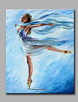 Pintada a mano Abstracto Personas Vertical,Modern Clásico Un Panel Lienzos Pintura al óleo pintada a colgar For Decoración hogareña