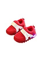 Baby Flats Spring Fall First Walkers Fabric Outdoor Casual Low Heel Magic Tape Black Red Blue Walking