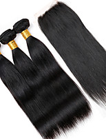 One Pack Solution Brazilian Texture Straight 12 Months 4 Pieces hair weaves