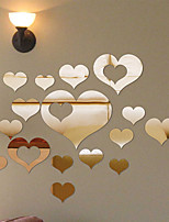 Romantik Spiegel Formen Wand-Sticker Wand Sticker mit Strass Spiegel Wandsticker Dekorative Wand Sticker,Vinyl Stoff Haus Dekoration
