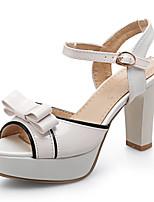 Femme-Habillé Décontracté Soirée & Evénement-Bleu Rose Violet Blanc-Gros Talon-club de Chaussures-Sandales-Similicuir