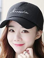 Women 's Cartoon English printing Studded Cotton Dome Sun Baseball Cap