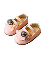 Baby Flats Spring Fall Comfort Leatherette Outdoor Casual Flat Heel Magic Tape Beige Blue Pink Walking
