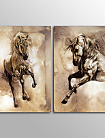 Canvas Print Animal ClassicTwo Panels Canvas Vertical Print Horse Wall Decor For Home Decoration