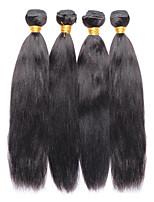 Tissages de cheveux humains Cheveux Brésiliens Yaki 12 mois 4 Pièces tissages de cheveux