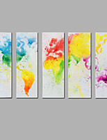 Modern Abstract  Hand-painted  Canvas Painting The Map Three Panels Ready to Hang  Canvas Oil Painting For Home Decoration