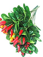 1 Branch Plastic Others Tabletop Flower Artificial Flowers Cherry Small pepper Random Category