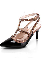 Черный Розовый КрасныйДля прогулок Для офиса Для праздника-Полиуретан-На шпильке-клуб Обувь-Обувь на каблуках