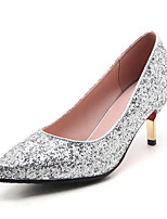 Heels Spring Summer Fall Winter Club Shoes Synthetic Wedding Party & Evening Dress Stiletto Heel Sequin Red Silver Gold