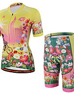 Cycling Jersey with Shorts Unisex Short Sleeve Bike Jersey Padded Shorts/Chamois ShortsBreathable Lightweight Materials 3D Pad Reflective