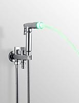 Contemporary Hand Shower Chrome Feature for LED Rainfall Shower Head Bidet Spray Faucet