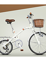 Comfort Bike Cycling 7 Speed 16 Inch 24 Inch Center-pull Caliper Brake Fixed Non-Damping Ordinary/Standard Steel Yellow White Black