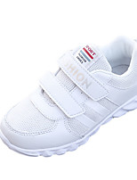 Men's Athletic Shoes Spring Fall Comfort PU Outdoor Athletic Flat Heel Buckle White Running