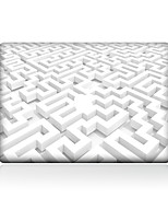 For MacBook Air 11 13/Pro13 15/Pro with Retina13 15/MacBook12 Pure White Geometry Decorative Skin Sticker