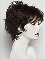MAYSU Natural External Warped Black Many Colors Women Wig  Human Hair Wig