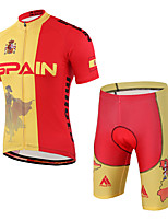 Cycling Jersey with Shorts Unisex Short Sleeve Bike Tracksuit Padded Shorts/ChamoisBreathable Compression 3D Pad