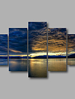 Stretched Canvas Print Four Panels Canvas Wall Decor Home Decoration Abstract Modern Seascape Sunrise