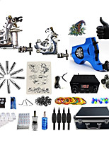Complete Tattoo Kit 3  G3R1RA4A6  Machines Liner & Shader Dual LED Power Supply