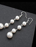 Pearl Others Stud Earrings Jewelry Natural Daily Alloy 1 pair White