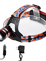 U'king ZQ-G70000BRed CREE T6 LED 2000LM 3Mode Adjustable Focus Headlamp Bike Light for Camping/Hiking/Caving Everyday Use Cycling