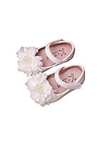 Baby Flats Spring Fall Comfort Patent Leather Outdoor Casual Flat Heel Magic Tape White Pink Walking