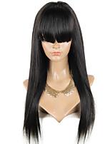 Волосы beata прямые glueless парик фронта шнурка 130% человеческие волосы парики бразильские виргинские волосы для черных женщин